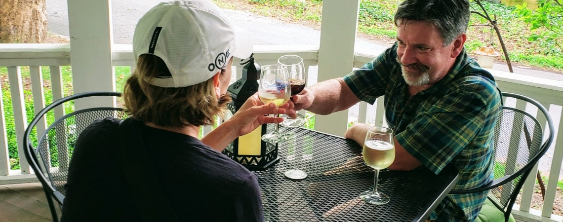 Toasting to Good Times on the Porch!